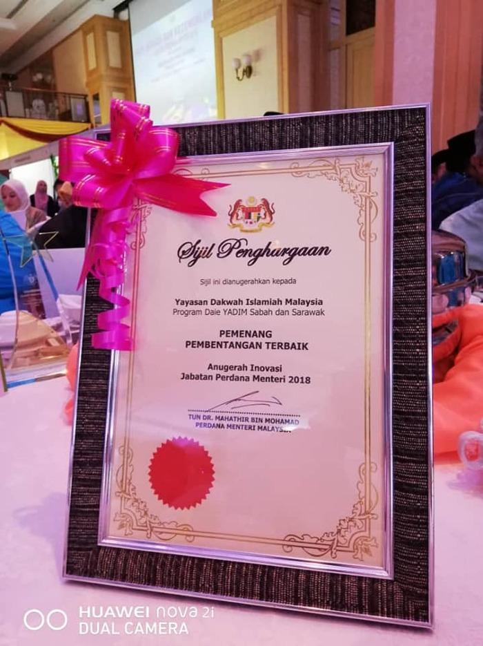 YADIM Pembentang Terbaik Anugerah Inovasi JPM 2018 - Yayasan